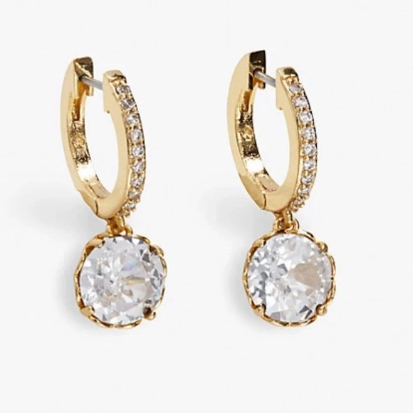 Kate Spade that sparkle pave gold hoops